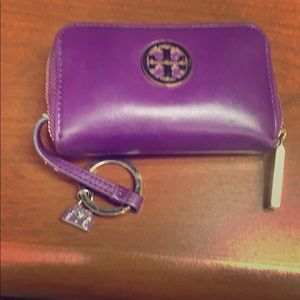 Tory Burch coin/credit card wallet with key ring